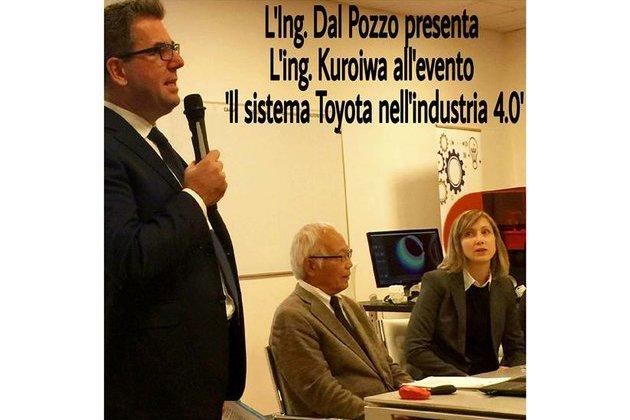 L'Ing. Dal Pozzo presenta l'Ing. Kuroiwa.