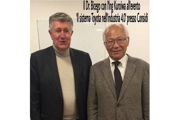 Il Dott. Antonio Bicego con l'Ing. Kuroiwa.