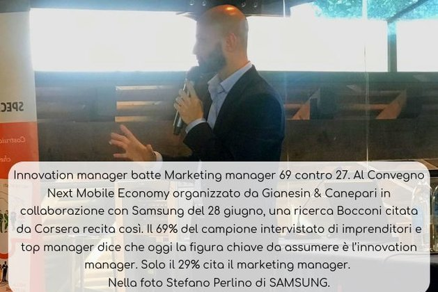 Innovation manager batte Marketing manager 69 contro 27
