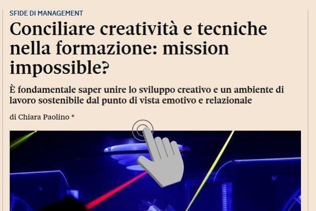 Conciliare creatività e tecniche nella formazione: mission impossible?