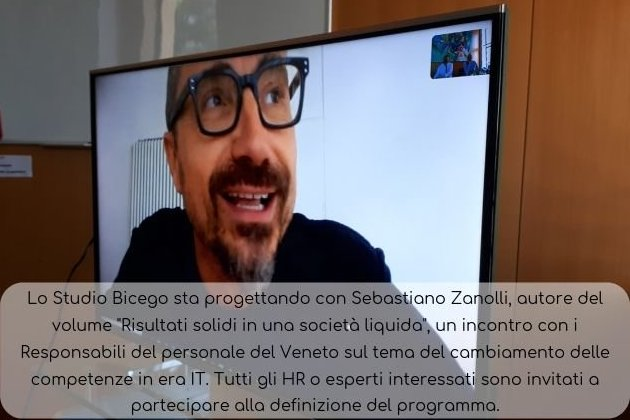 Sebastiano Zanolli in collegamento Skype in Studio Bicego
